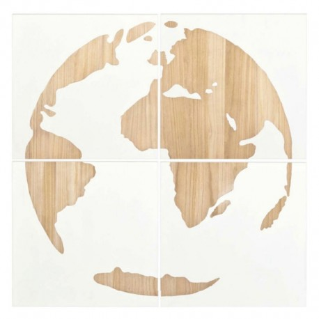 Quadriptyque Terra Wood NOW'S HOME
