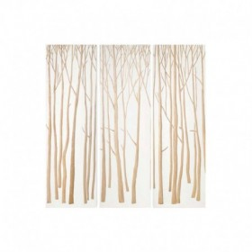 Triptyque blanc en bois Méditation NOW'S HOME