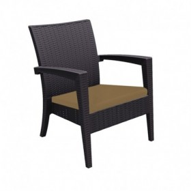 "Coussin pour fauteuil ""Miami Rattan"" - Hotelpros"