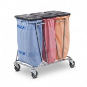 Chariot de collecte 1 à 3 sacs SW80 - Hotelpros