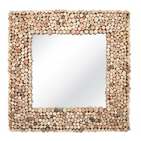 Miroir carré bois flotté NOW'S HOME
