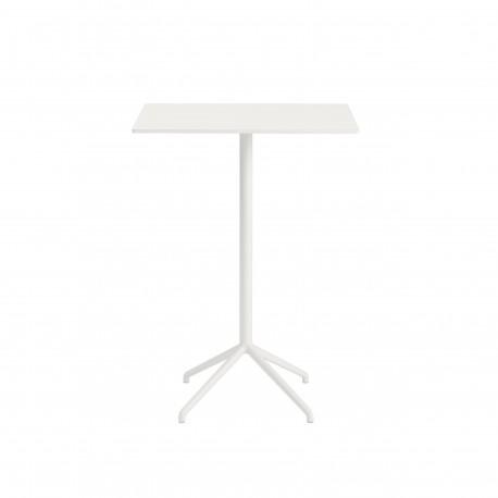 Table haute mange debout Still - Blanc Plateau carré - Hotelpros