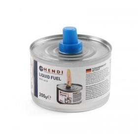 Combustible liquide avec mèche - Pâte 145gr / 4 heures / 24 par carton - Hotelpros
