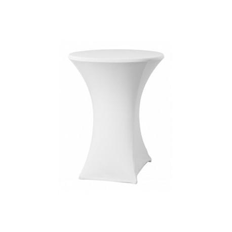 Housse pour table haute ronde - blanc - Hotelpros