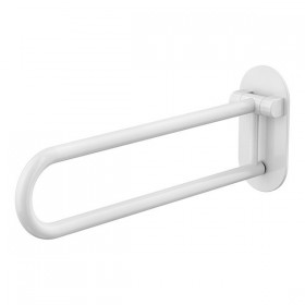 Barre de maintien escamotable Ø32mm 70cm blanche - Hotelpros