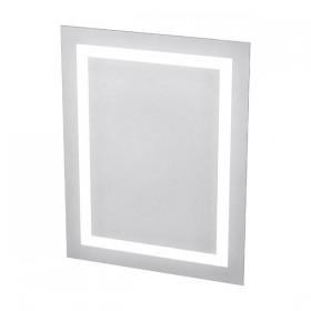 Miroir LED rétro éclairé dépoli rectangulaire et antibuée - Hotelpros
