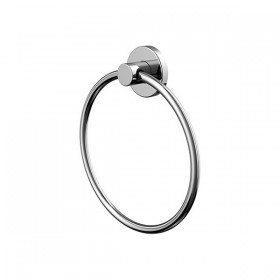 Porte-serviette anneau simple chrome - Hotelpros