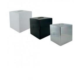 Lot de 12 Boîtes à mouchoirs cube plastique - Hotelpros