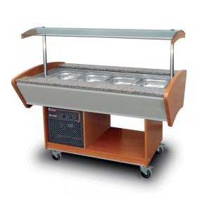 Buffets réfrigérés 4 bacs de présentation - Hotelpros