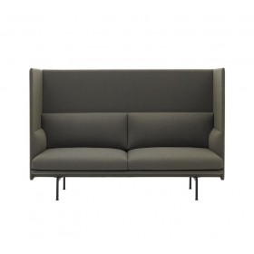 Sofa Outline Highback - Remix 163 - Pieds noirs - Hotelpros