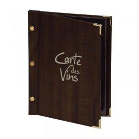 Carte des vins faux-bois - Hotelpros