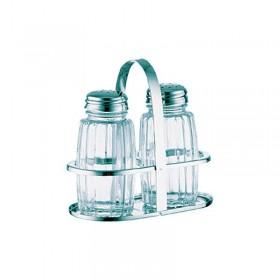Set sel et poivre verre et inox - Hotelpros