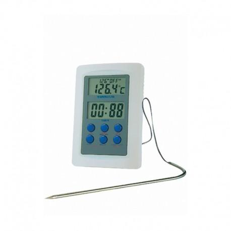 Thermomètre digitale pour four avec sonde (chrono+timer) - Hotelpros