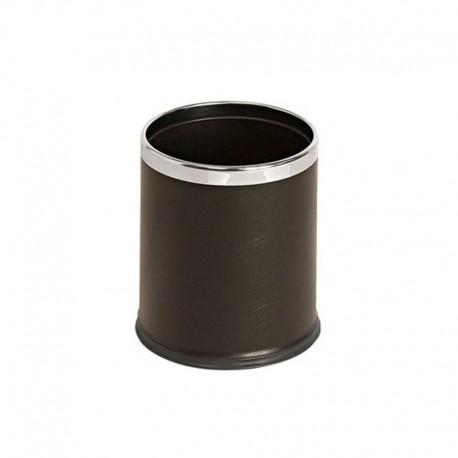 Corbeille aspect cuir 10Litres - Hotelpros