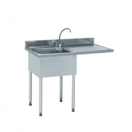 Plonge inox pour lave-vaisselle encastré - Hotelpros
