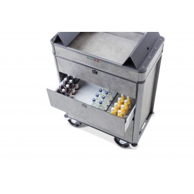 Chariot pour minibars Mundus MBW Secure - Face 2 - Hotelpros