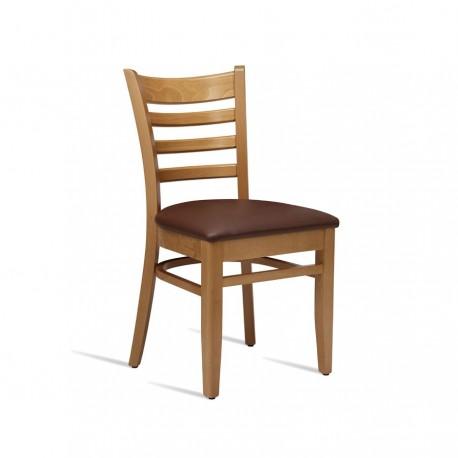 Chaise Plus Chêne clair et Brun - Hotelpros