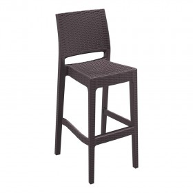 Tabouret de bar Mint marron - Hotelpros